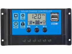 Régulateur de charge de panneau solaire jusqu'à 30 A.