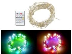 Guirlande à LED RVB de 5 m connectée et compatible commandes vocales.