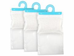 Trois sachets absorbeurs d'humidité à suspendre dans une armoire, panderie ou dressing.
