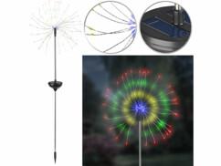 Décoration lumineuse solaire à effet feu d'artifice - 120 LED - Couleurs