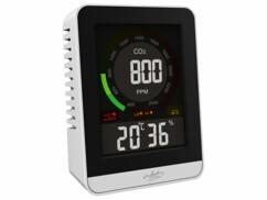 Détecteur de CO2 avec horloge et thermomètre-hygromètre.