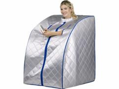 Sauna infrarouge mobile 1000W avec chauffe-pied et radiateurs